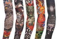 1 Pc Color Random New Fake Tattoo 0008 Elastic Arm Sleeve Arm with sizing 1001 X 1001
