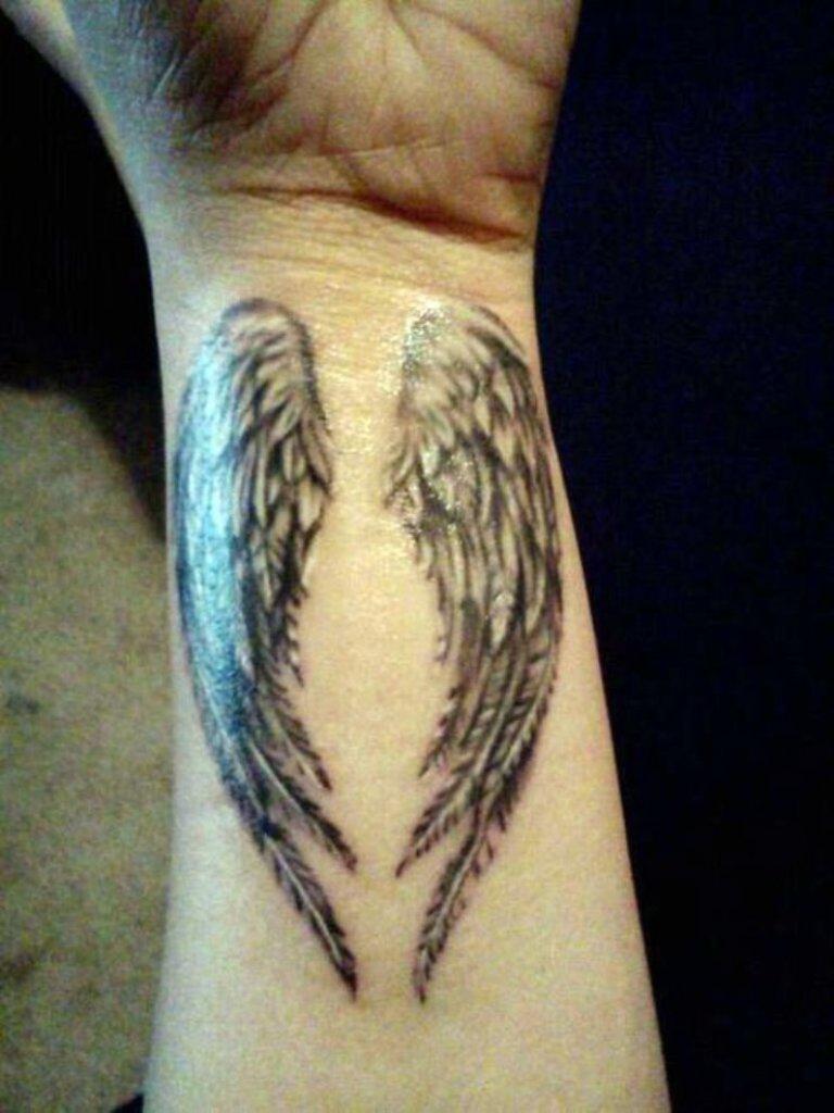 101 Best Angel Wings Tattoos Designs regarding measurements 768 X 1024
