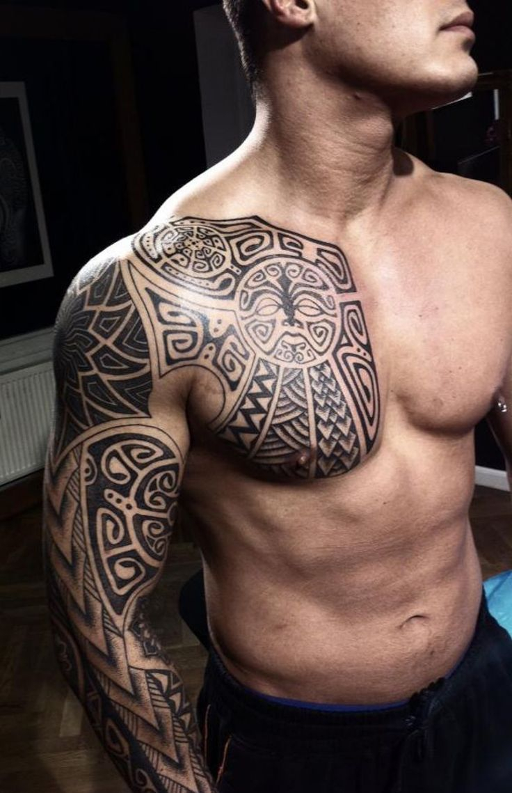 101 Best Chest Tattoos For Men for dimensions 736 X 1139