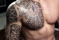 101 Best Chest Tattoos For Men for sizing 736 X 1139