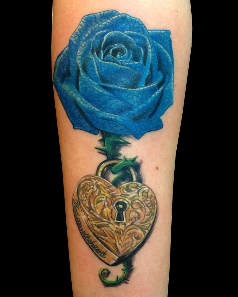 Blue Rose Tattoo On Upper Arm Arm Tattoo Sites