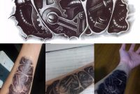 1pc 3d Removable Tattoo Waterproof Robot Arm Temporary Tattoo for size 1000 X 1000