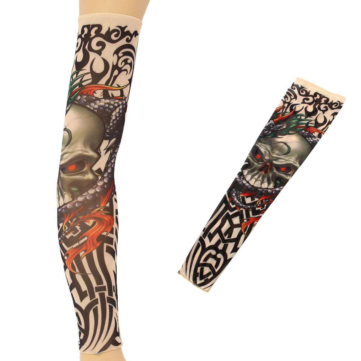 1pc Tattoo Arm Sleeves Nylon Spandex Stretchy Temporary Stockings within measurements 1200 X 1200