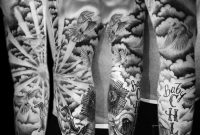 20 Cloud Tattoos On Sleeve intended for sizing 829 X 1024