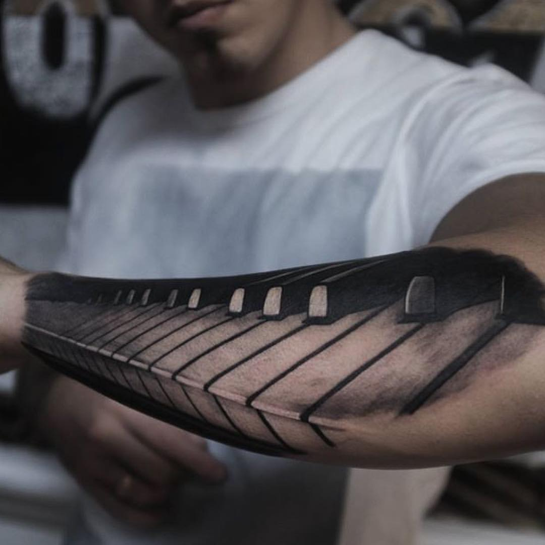20 Piano Tattoos On Sleeve with regard to sizing 1080 X 1080