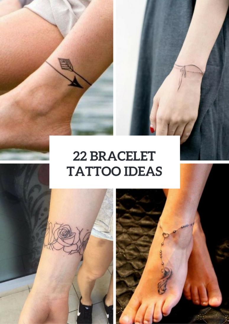22 Bracelet Tattoo Ideas For Women Styleoholic within size 775 X 1096
