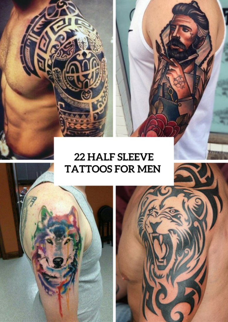 22 Half Sleeve Tattoo Ideas For Men Styleoholic in size 775 X 1096