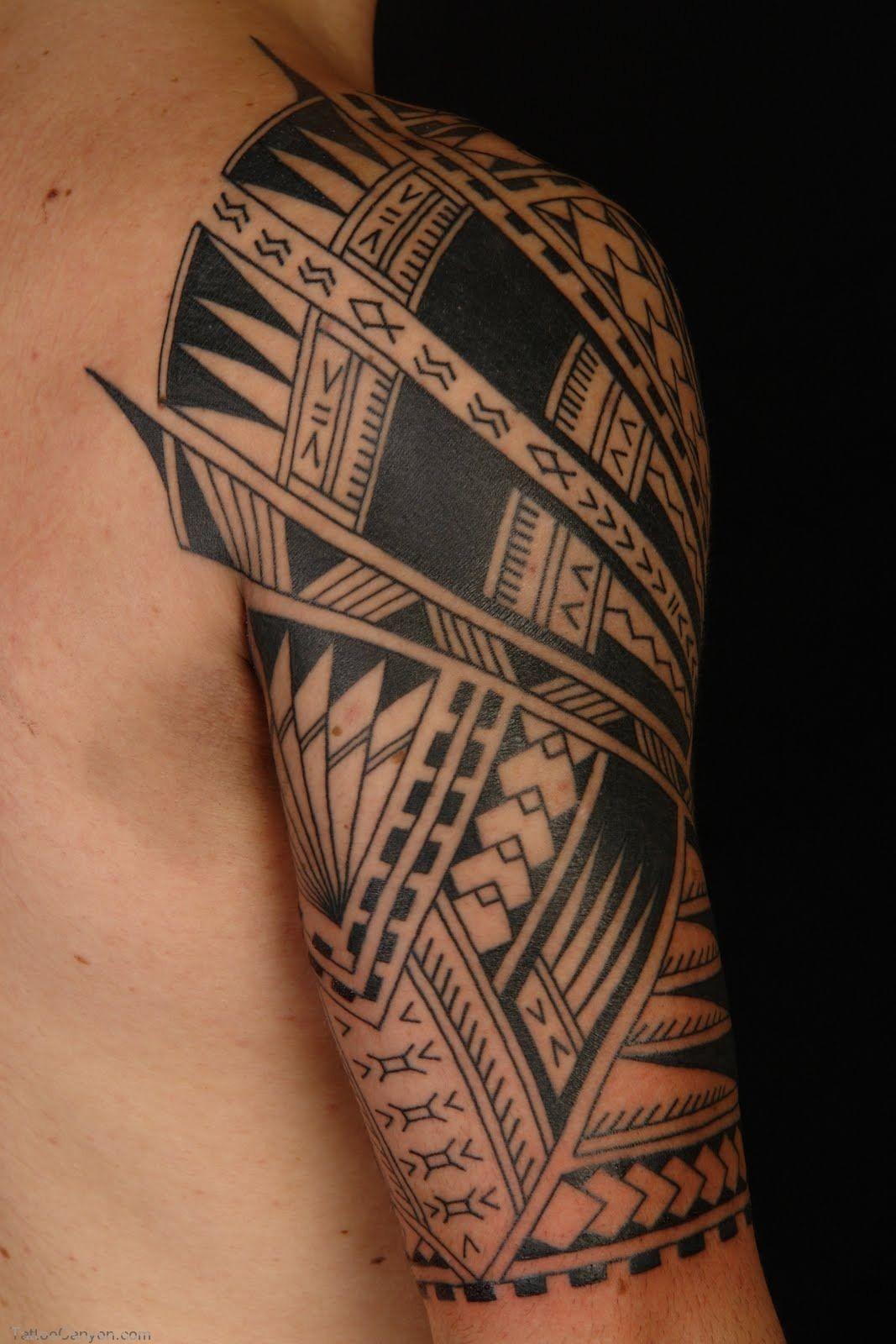 2232 Tattoo Samoan Polynesian Half Sleeve Free Download Tattoo regarding proportions 1067 X 1600