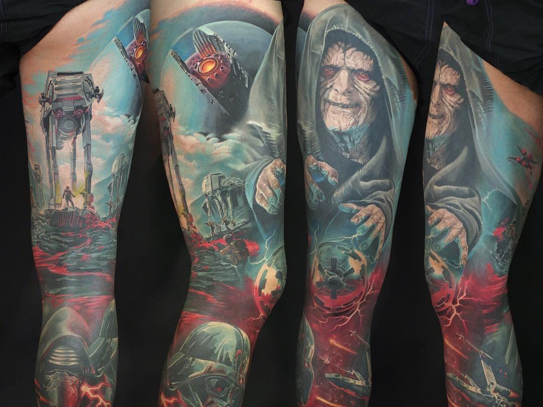 25 Awesome Colored Sleeve Tattoos Tattoozza regarding dimensions 1080 X 810