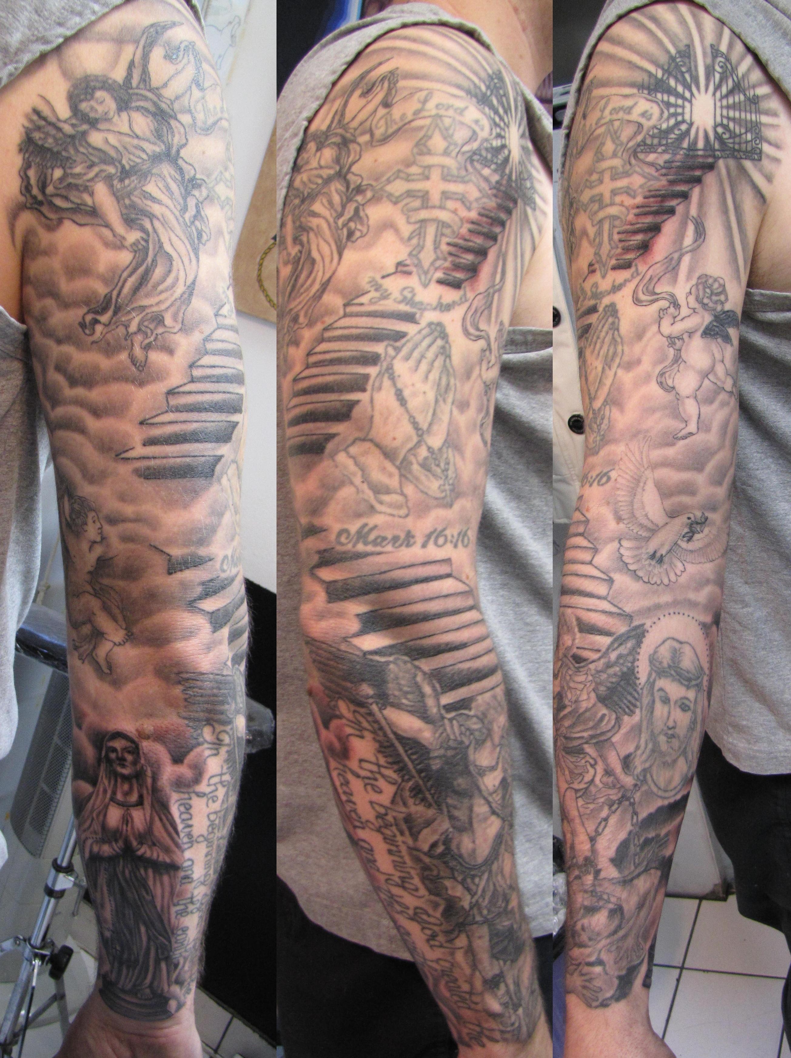 26 Angel Sleeve Tattoos Ideas regarding measurements 2609 X 3489