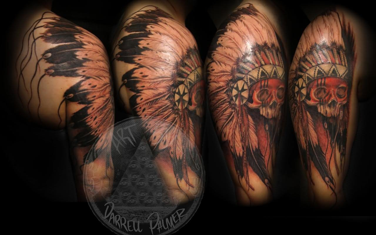 26 Indian Chief Sleeve Tattoos with regard to size 1279 X 800