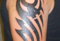 30 Best Tribal Tattoo Designs For Mens Arm intended for measurements 768 X 1024