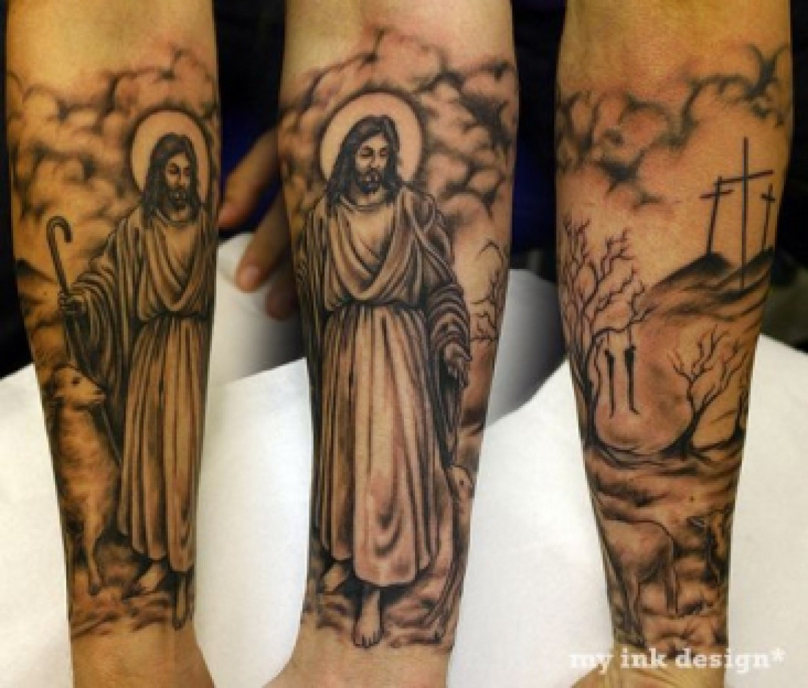 30 Christian Tattoos On Sleeve inside size 1170 X 997