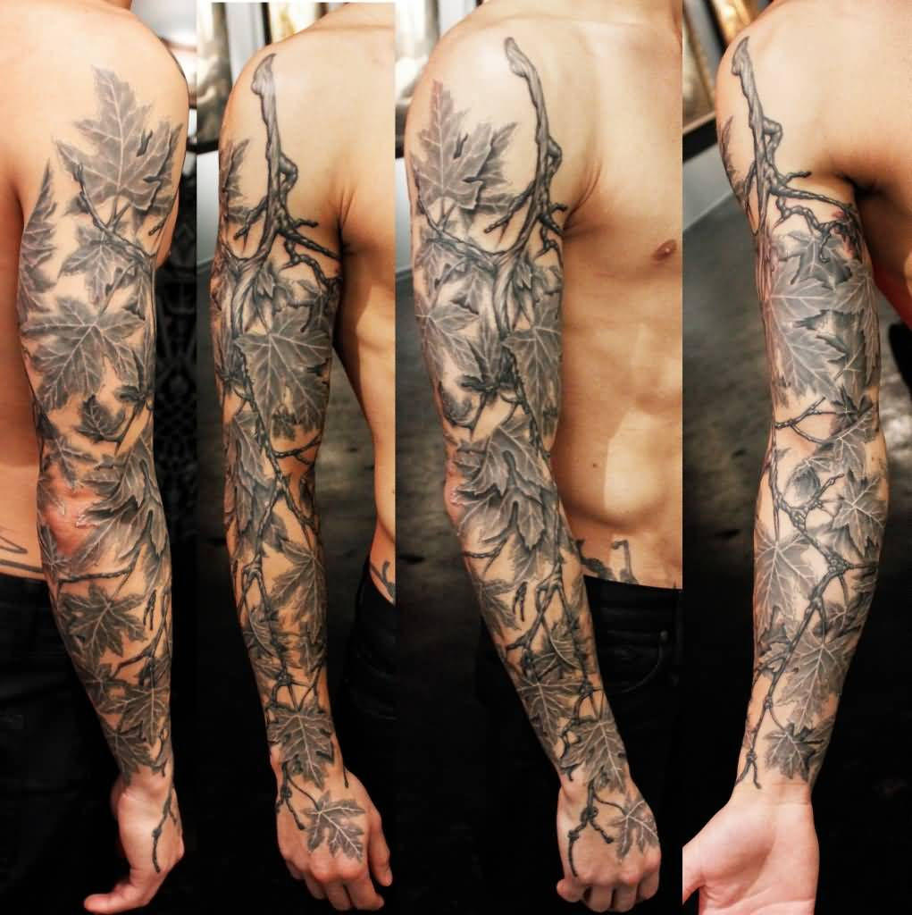 36 Black And Grey Full Sleeve Tattoos in sizing 1021 X 1024