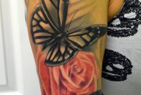 37 Inspiring Butterfly And Rose Tattoos for measurements 688 X 1162