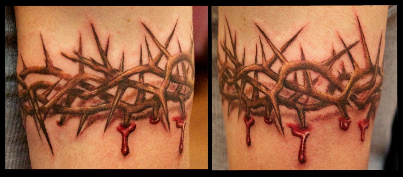 3d Crown Of Thorns Arm Band Tattoo Google Search For My Dad throughout sizing 1600 X 705
