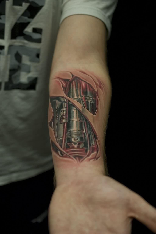Arm tattoos männer 3d