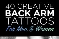 40 Creative Back Arm Tattoos For Men Women Tattooblend regarding size 595 X 1490