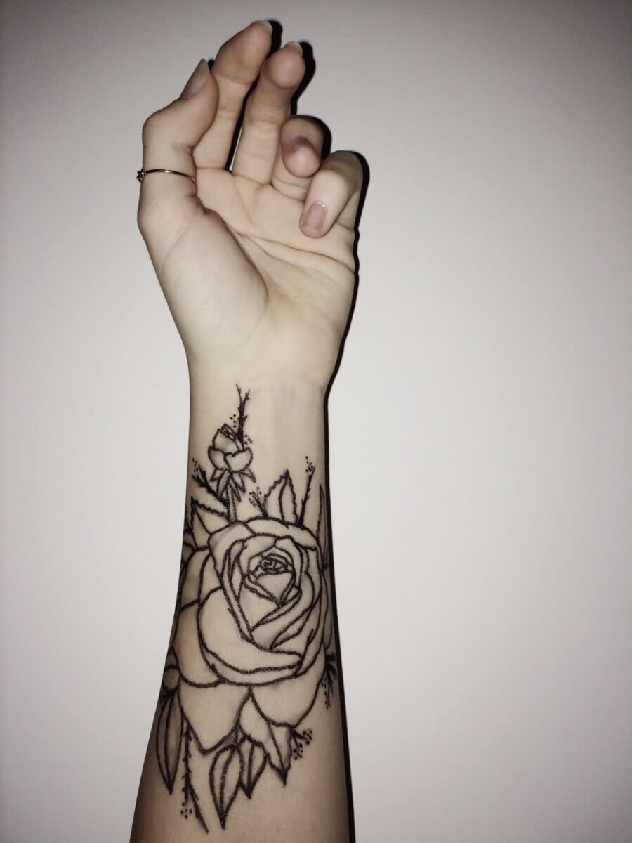 43 Beautiful Forearm Rose Tattoos with regard to size 900 X 1200