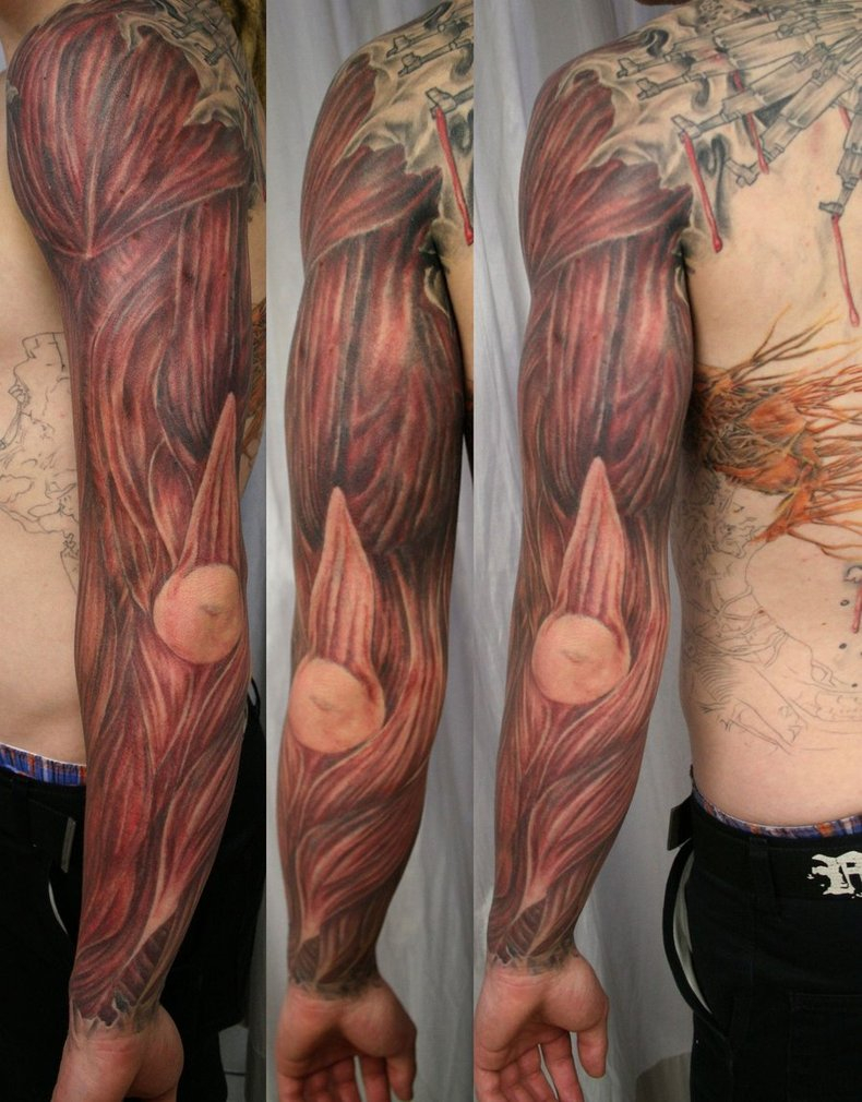 50 Amazing Muscles Tattoos with regard to measurements 790 X 1010
