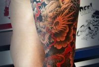 50 Cool Japanese Sleeve Tattoos For Awesomeness Tattoos Best regarding proportions 600 X 1369