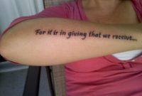 51 Beautiful Wording Tattoo For Arm within sizing 1024 X 768