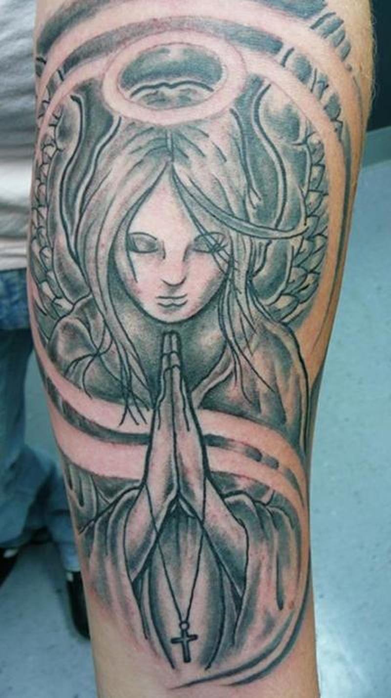 60 Incredible Praying Angel Tattoos Designs With Meanings with regard to sizing 800 X 1428