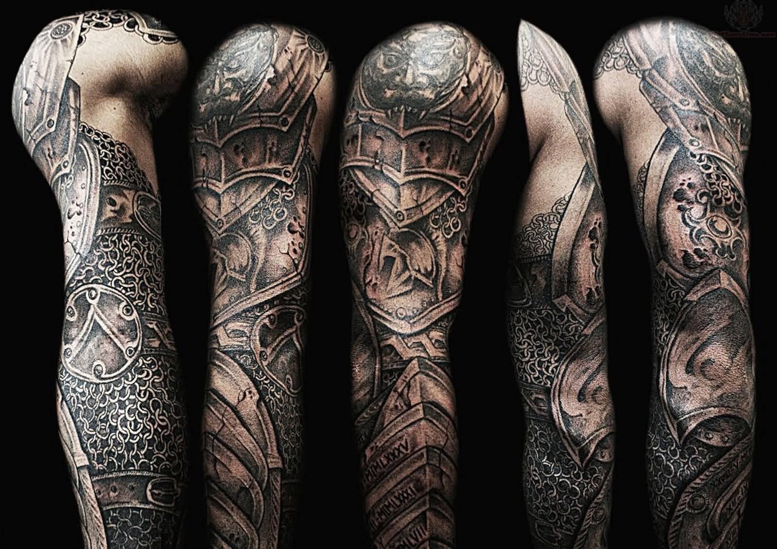 60 Wonderful Armor Tattoos pertaining to sizing 1600 X 1130