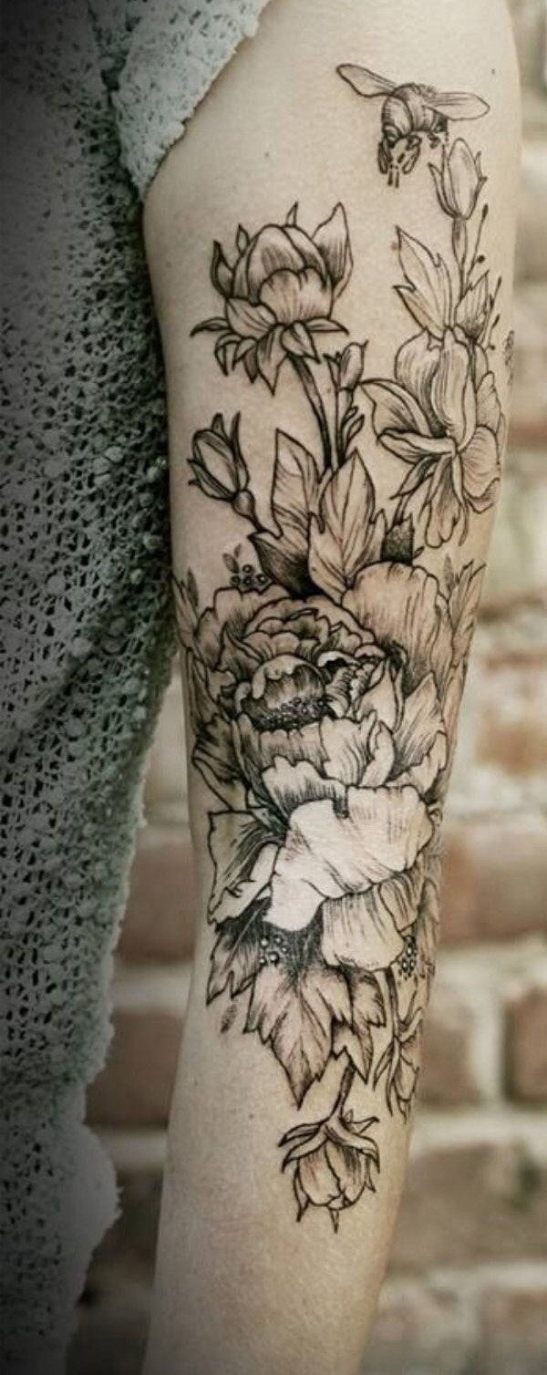 91 Gorgeous Yet Delicate Flower Tattoo Designs For Your Own Inspiration for dimensions 600 X 1508