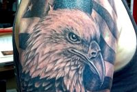 95 Bald Eagle With American Flag Tattoos Designs With Meanings pertaining to measurements 900 X 1126