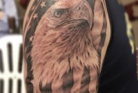 95 Bald Eagle With American Flag Tattoos Designs With Meanings pertaining to sizing 768 X 1024