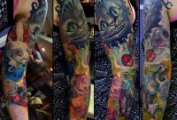 Alice In Wonderland Arm Tattoos Watercolor Tattoo Mecca Tattoos in proportions 1024 X 860