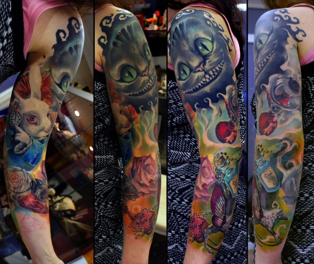 Alice In Wonderland Arm Tattoo Ideas Arm Tattoo Sites