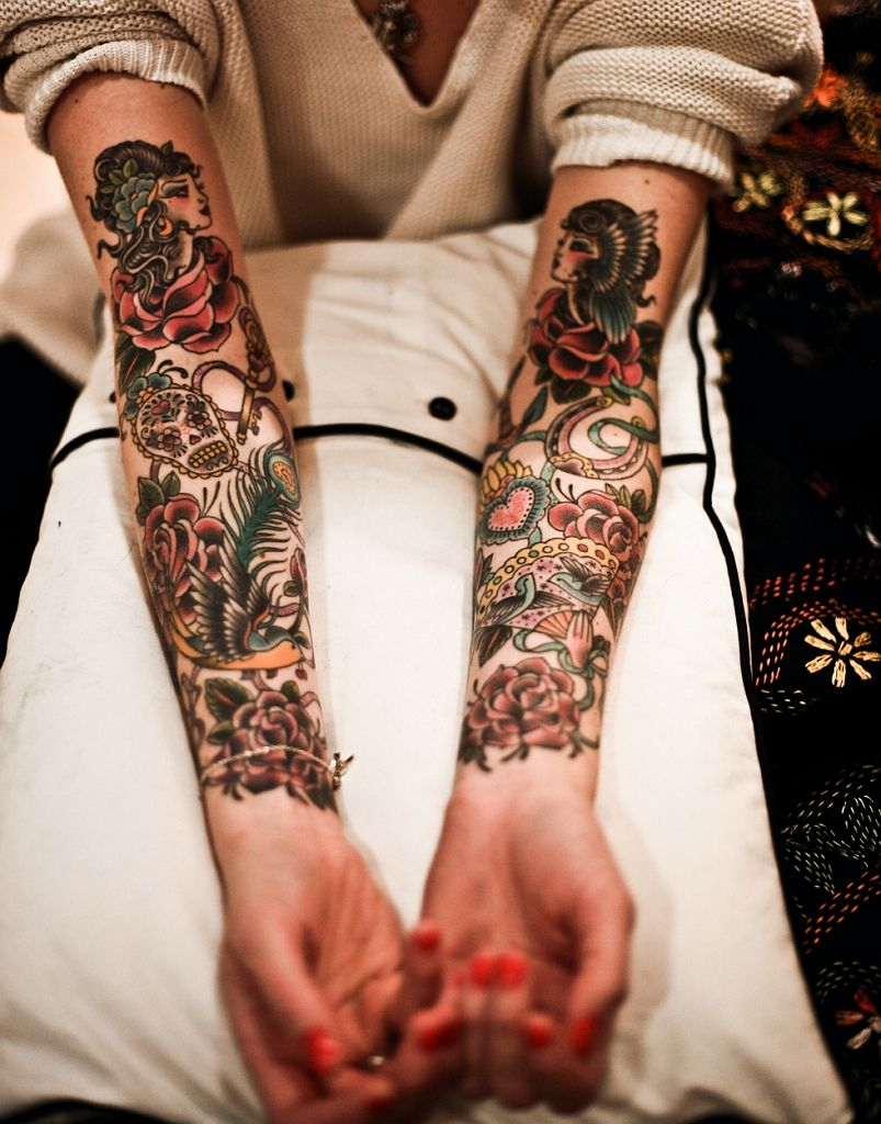 American Traditional Tattoo Sleeve Old School Tattoo Arm for size 803 X 1024