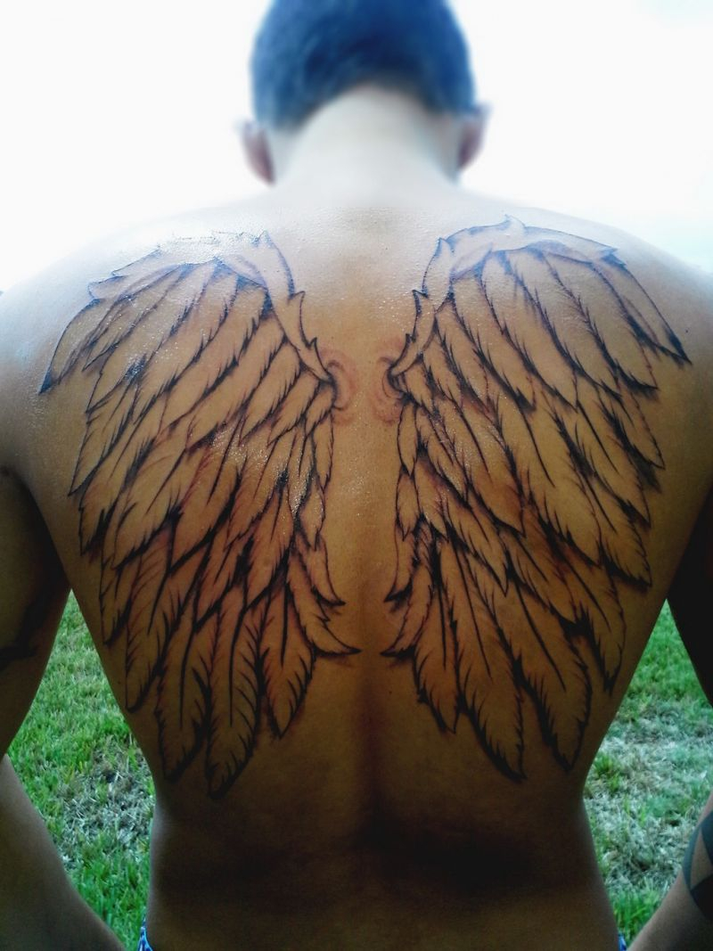 Angel Wing Tattoos 125 Angel Wing Tattoos That Are Heavenly intended for measurements 800 X 1067