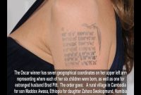 Angelina Jolies Tattoos Did You Know She Has One For Brad Pitt in measurements 1280 X 720