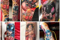 Anime Tattoo Arm Sleeve Characters Album On Imgur within size 1600 X 1600