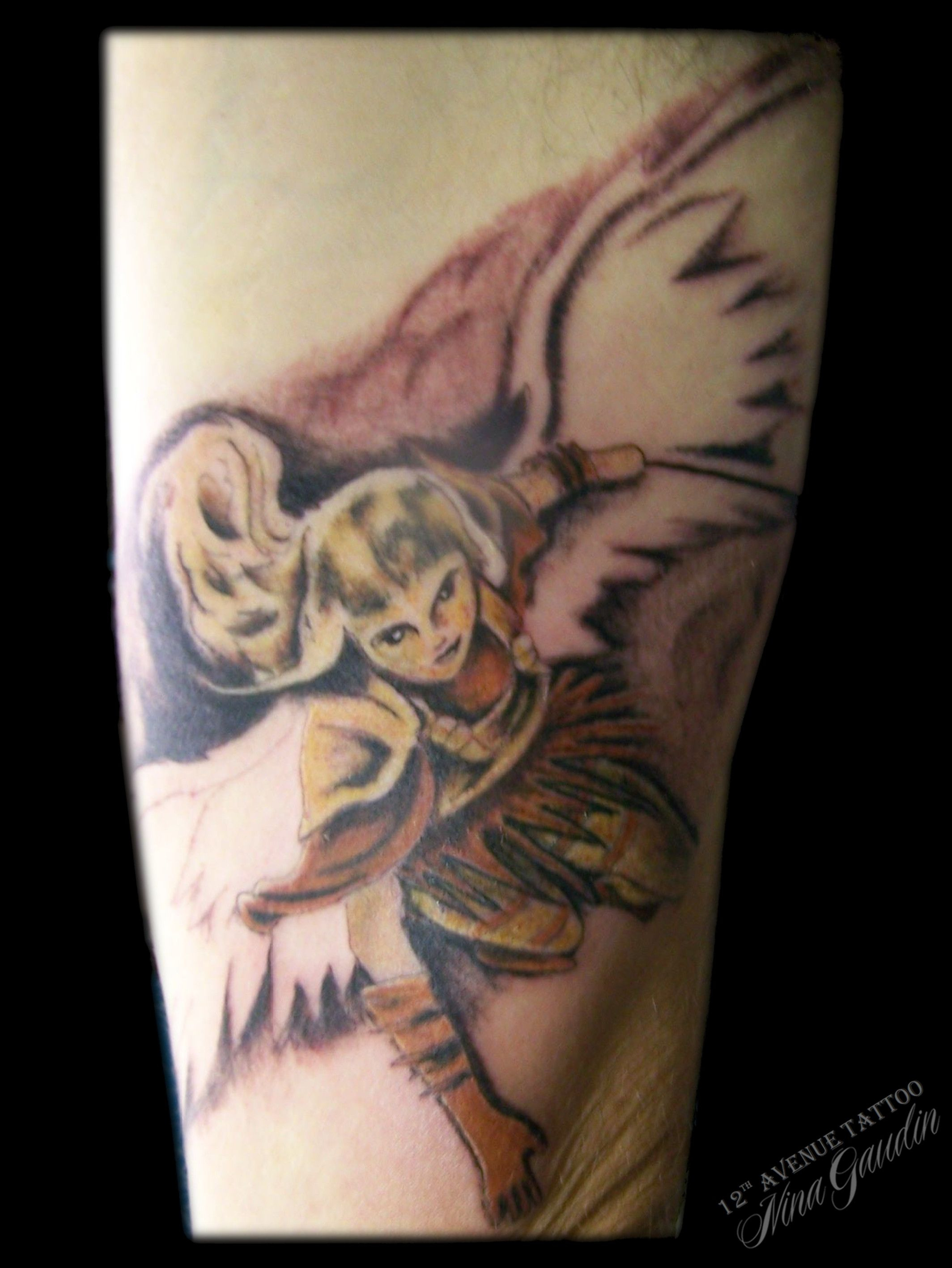 Archangel Michael Color Inner Bicep Tattoo Nina Gaudin Of 12th with regard to measurements 2128 X 2832