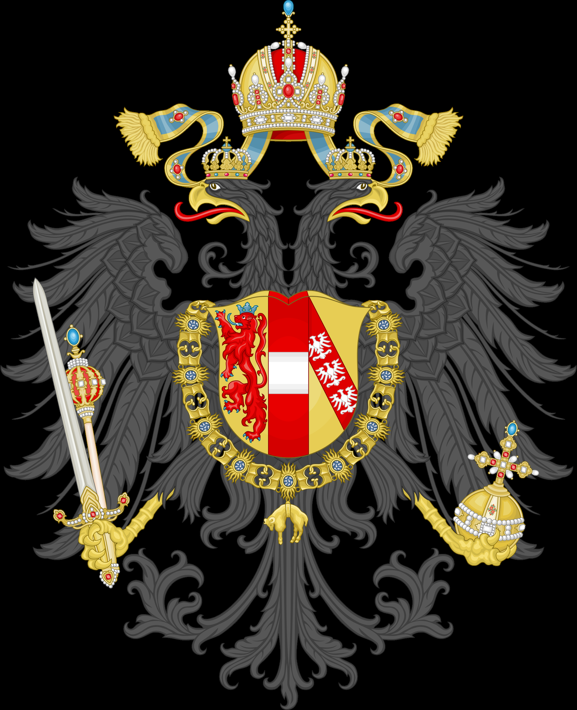 Arms Of The Empire Of Austria 1815 Powerful Germanaustrian regarding measurements 2000 X 2464