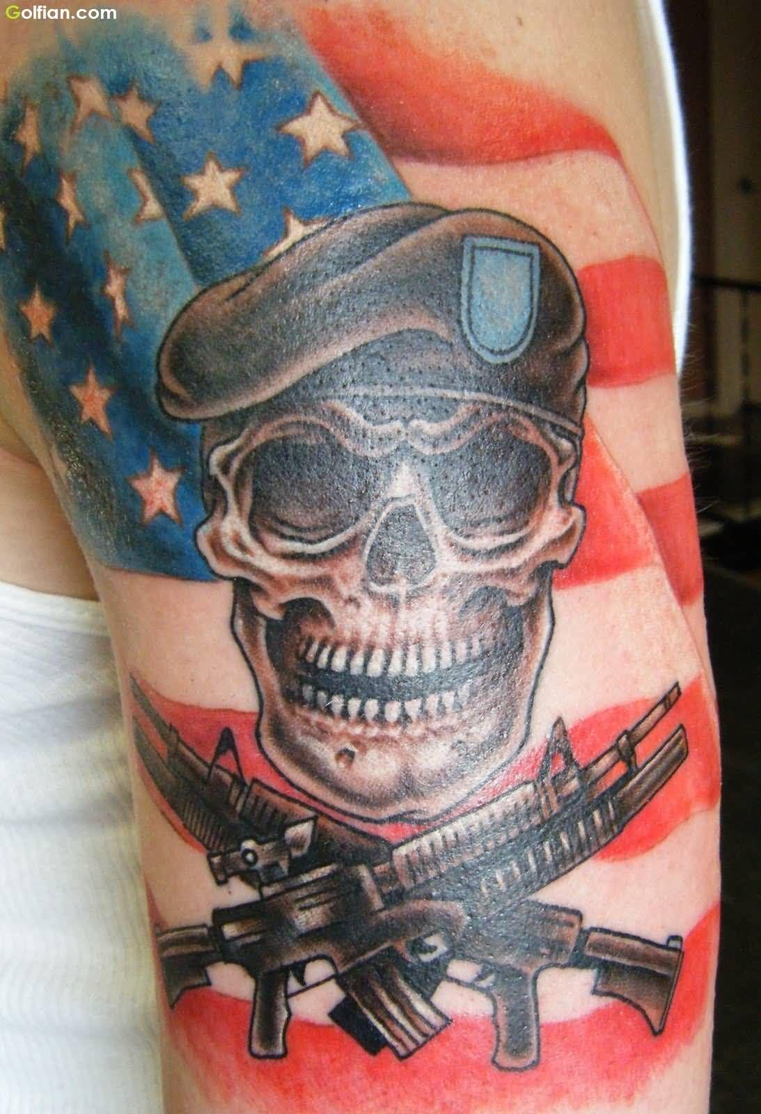 Tattoo Skull Army Arm Tattoo Sites