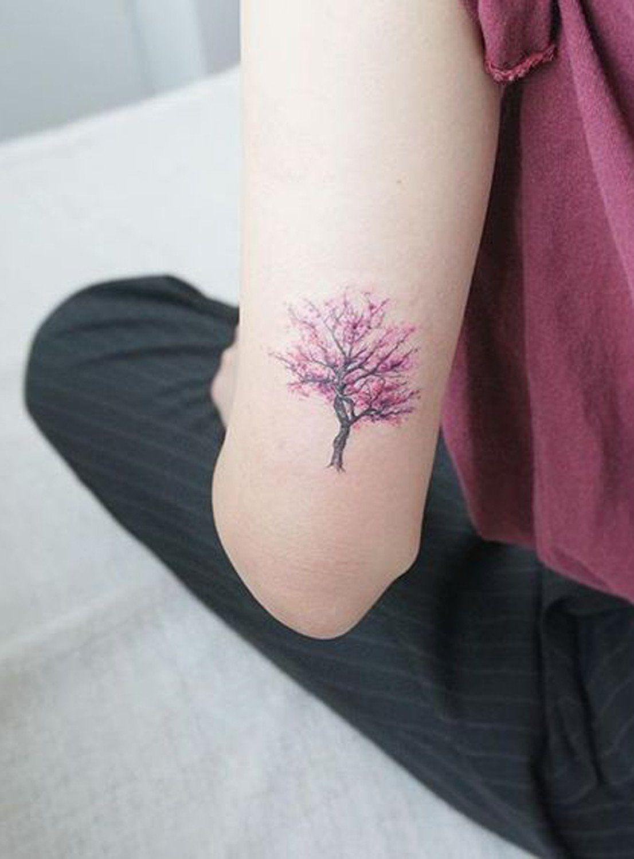 Back Of Arm Cherry Blossom Tree Tattoo Ideas At Mybodiart inside sizing 1106 X 1500
