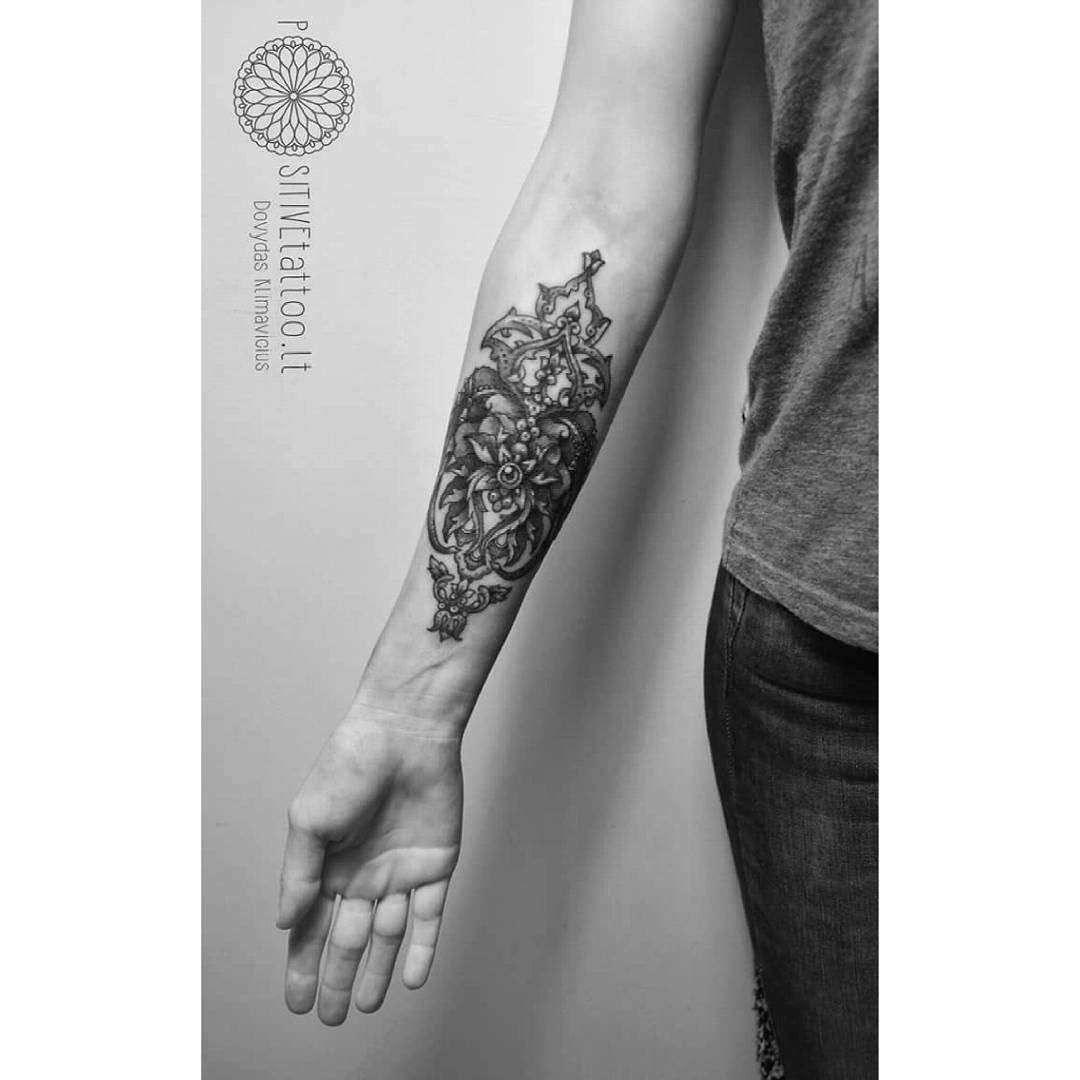 Baroque Tattoo Pattern On Forearm Best Tattoo Ideas Gallery throughout proportions 1080 X 1080