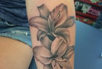 Beautiful Lilles Lilies Black And Gray Pretty Tattoos For Girls Soft throughout sizing 852 X 1136
