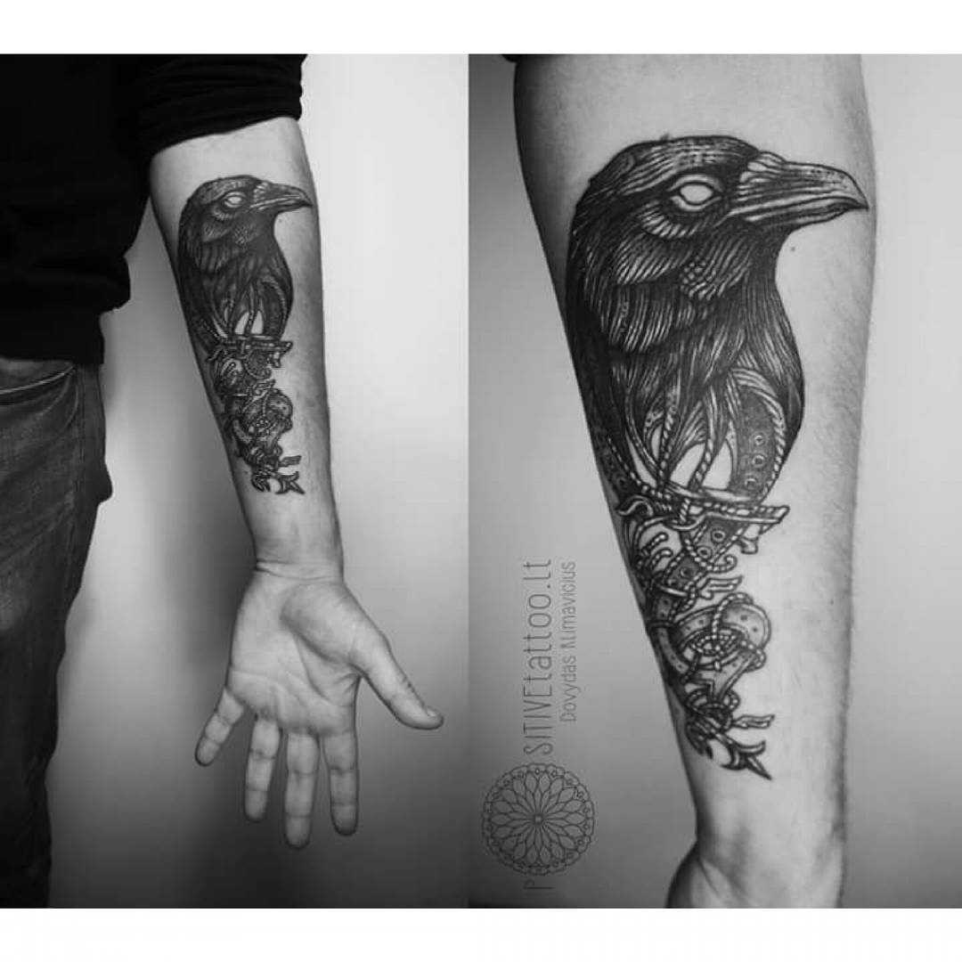 Belt Crow Tattoo Best Tattoo Ideas Gallery inside proportions 1080 X 1080