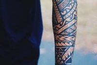 Berarm Tattoo Mnner Tribal Motive Arm Mnnlich Tattoos within sizing 750 X 1125