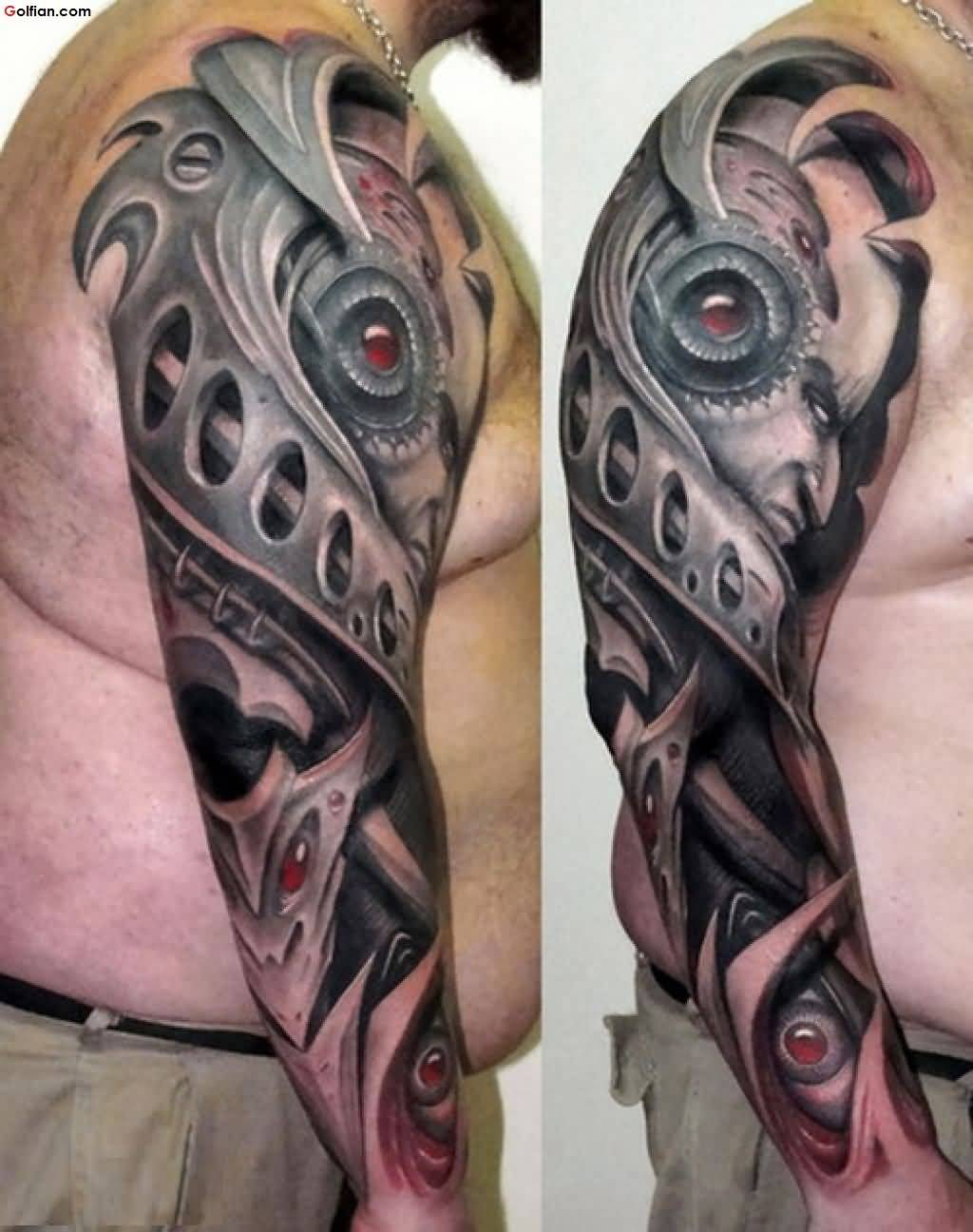 Best 3d Arm Tattoos For Men with proportions 1024 X 1296