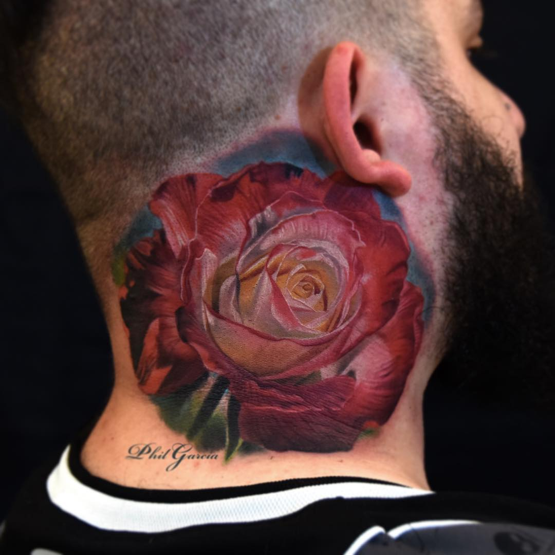 Big Rose Neck Tattoo Best Tattoo Ideas Gallery throughout dimensions 1080 X 1080