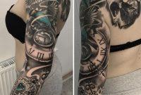 Birds Locket Timepiece Full Sleeve Best Tattoo Ideas Designs inside proportions 900 X 917