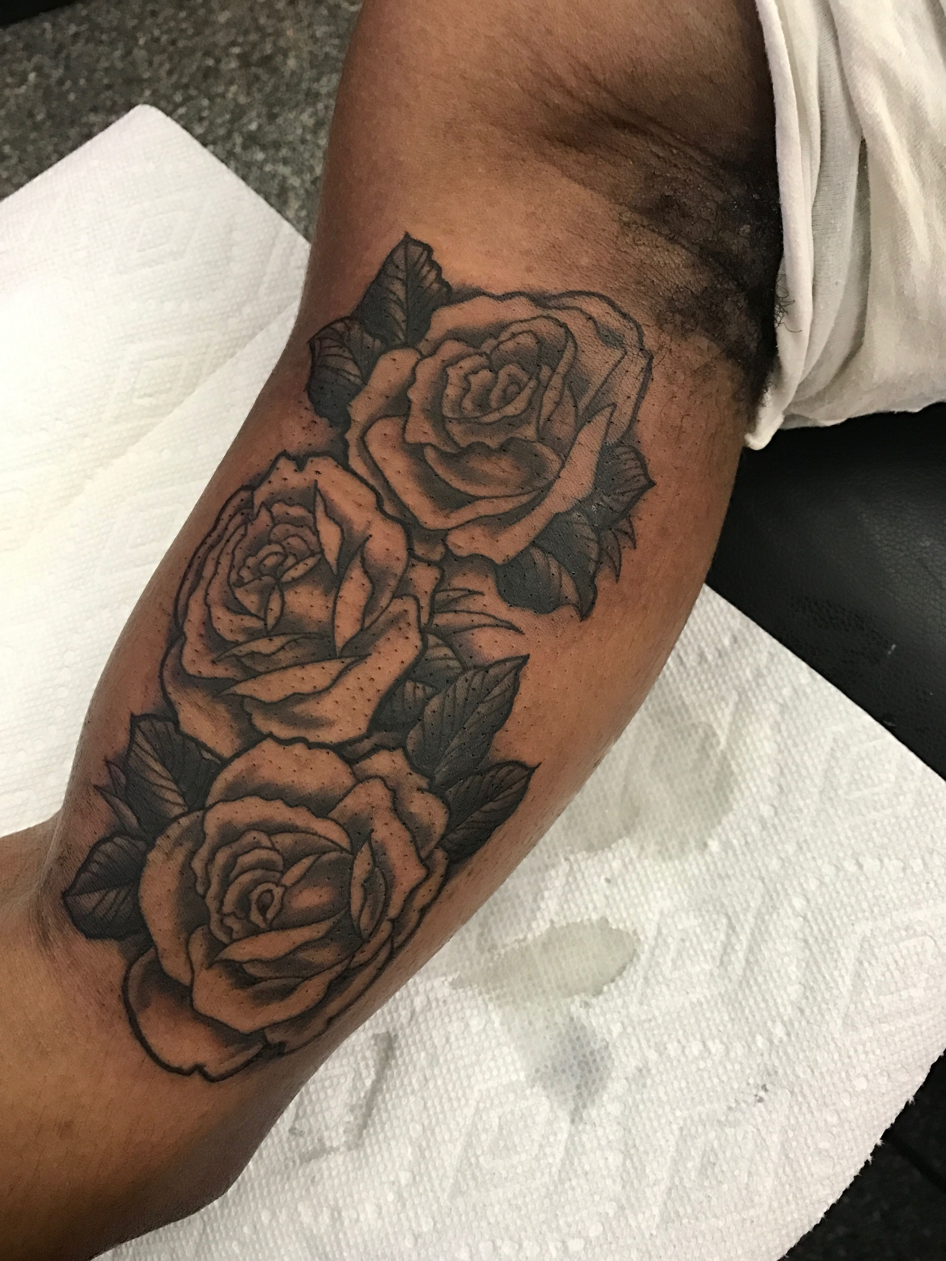 Black And Grey Rose On The Inner Upper Arm Heart Rose Tattoo pertaining to sizing 3024 X 4032