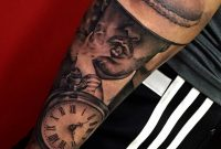 Black And Grey Style Tattoo On The Left Forearm inside dimensions 1000 X 1000